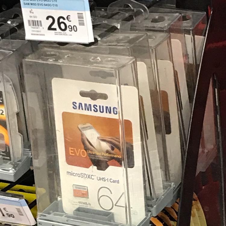 Carte microSD Samsung 64Go Evo - Gambetta Lille (59)