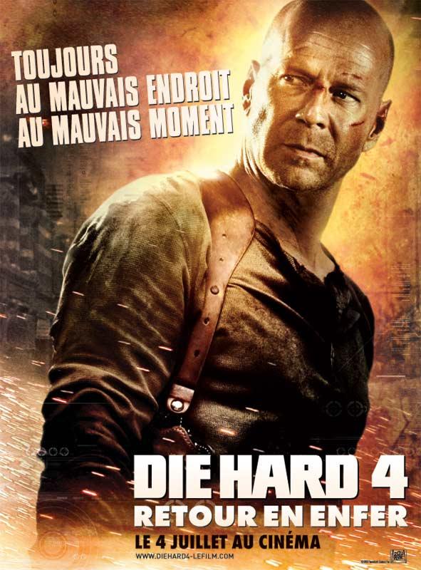 Sélection de films à l'achat en promotion à partir de 1€ - Ex : Die Hard 4 1€