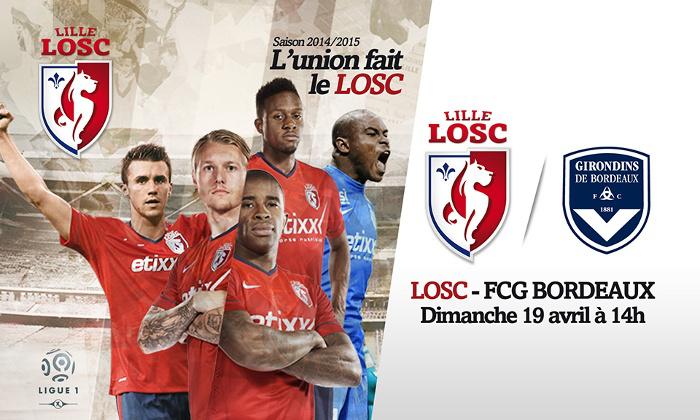 Place pour le match LOSC vs Girondins de Bordeaux du 19 avril en cat 3, 4 ou en Fan Bar