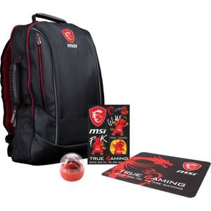 "Pack MSI Y17 Dragon Fever Summer GE: Sac à dos pour PC portable 17"" + Tapis souris Gaming + Goodies MSI"