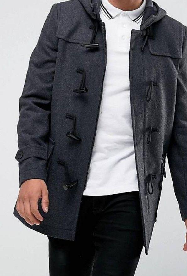 Duffle coat French connection - Taille S, XL et 2XL, Gris foncé