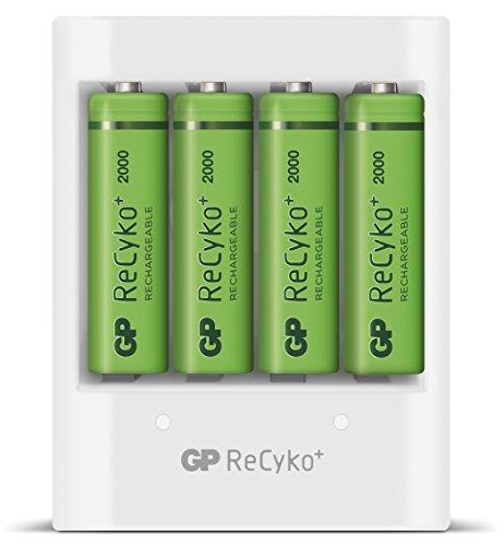 Chargeur de piles rechargeables avec port USB + 4 piles rechargeables AA Recyko+ 2000mAh (Vendeur tiers)