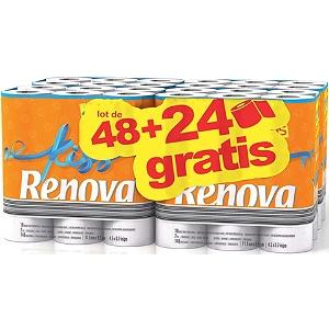 Sélection de Produits en Promotion - Ex: Paquet de 96 rouleaux de papier-toilette Renova Kiss