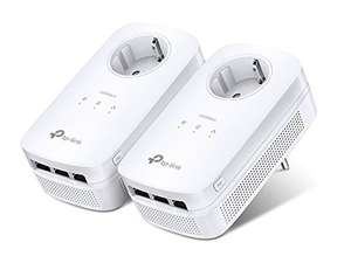 Pack de 2 Adaptateurs CPL TP-LINK TL-PA8030PKIT avec prise gigogne - 3 ports Gigabit
