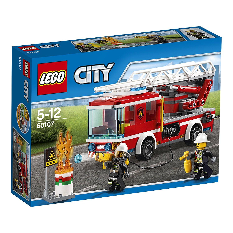 [Prime]  Sélection de Jeux de Construction Lego City en Promotion - Ex: 60107 - Le Camion de Pompiers avec Échelle