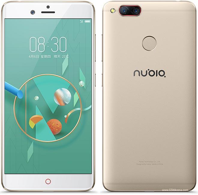 "Smartphone 5.2"" Nubia Z17 Mini (SnapDragon 652, 4 Go de RAM, 64 Go, or) + film pour écran + protection en silicone + protection en TPU"
