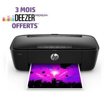 Enceinte bluetooth Imprimante HP AMP 130 Wifi - Noir + Abonnement Deezer Premium+ 3 mois