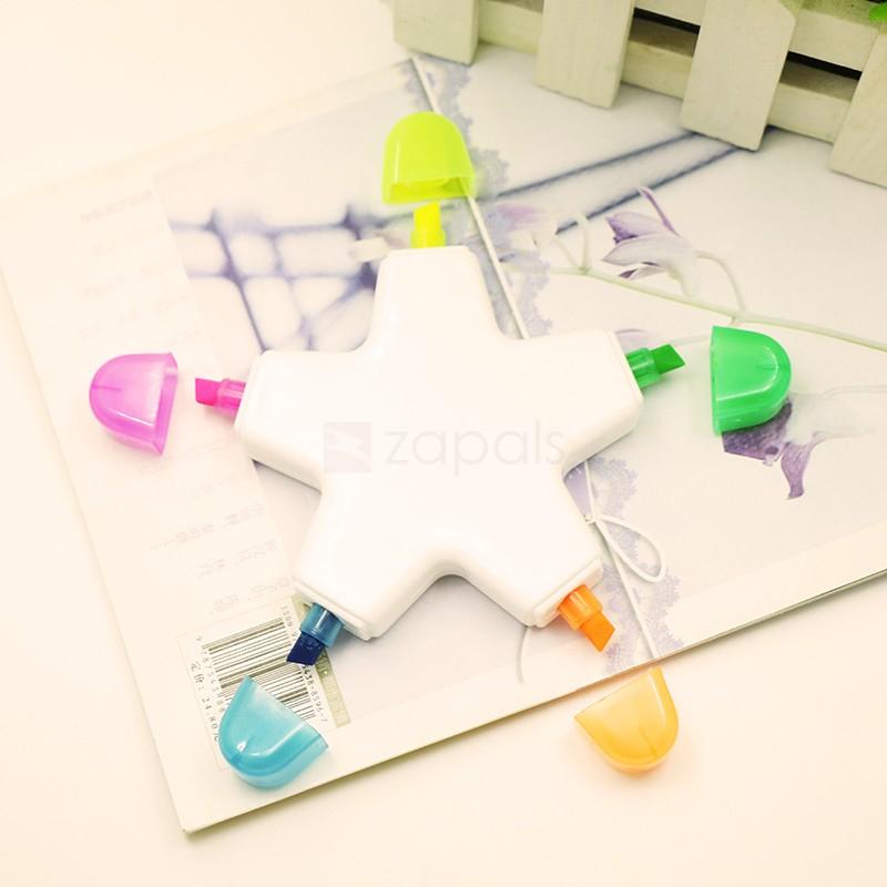 Stylo surligneur 5 couleurs