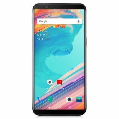 """Smartphone 6.01"""" OnePlus 5T - 2K, SnapDragon 835, 6 Go de RAM, 64 Go, noir"""