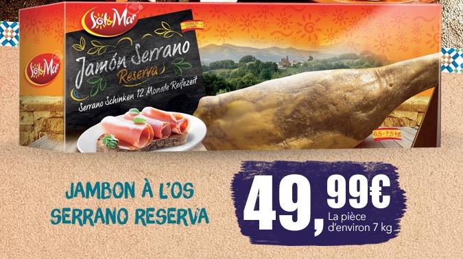 Jambon serrano 12 mois d'affinage 7 Kg