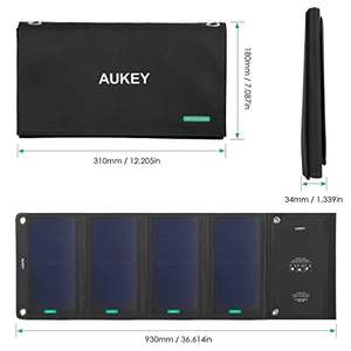 Panneau Solaire Aukey  28W Double Ports USB - (vendeur tiers)