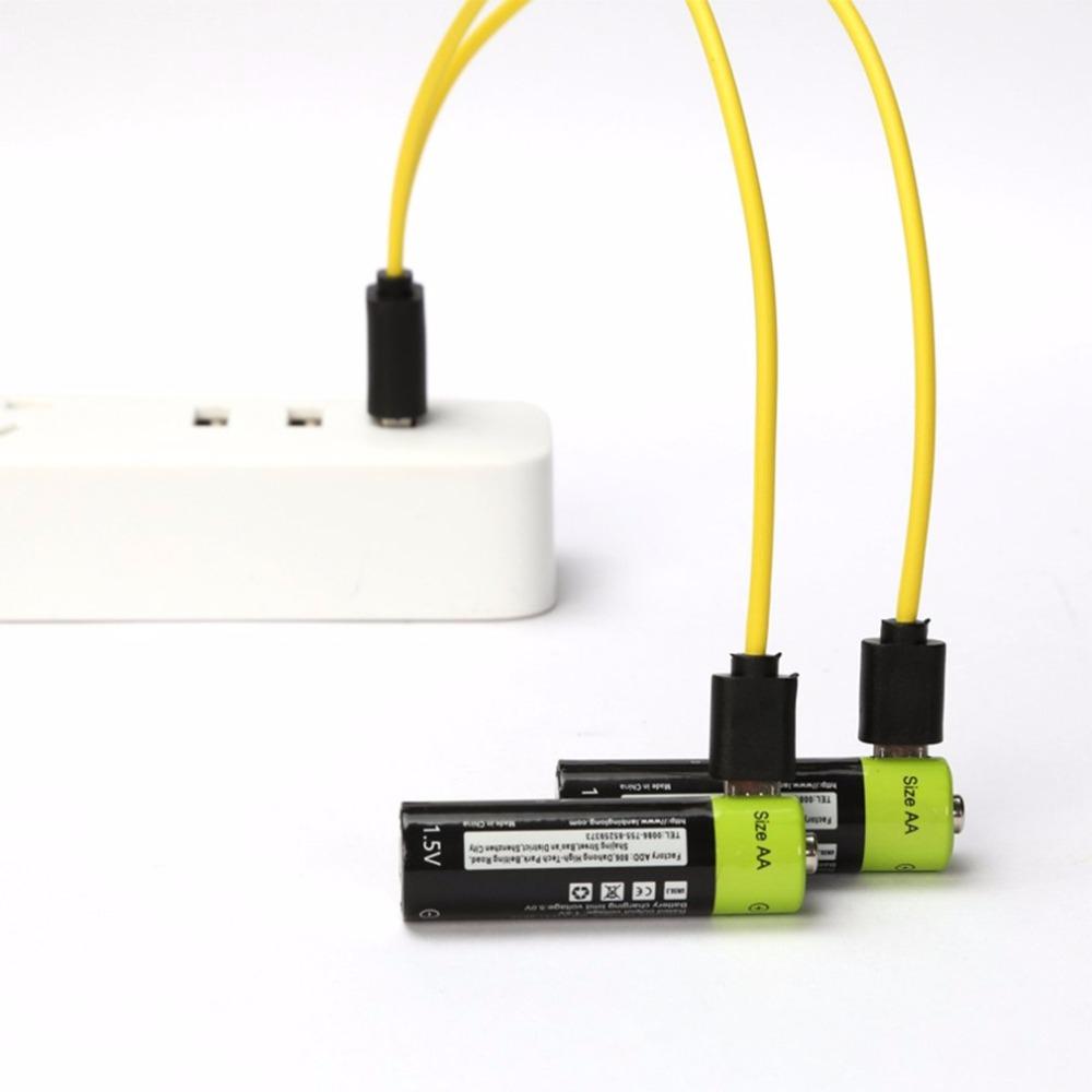 Lot de 2 piles AA rechargeables Znter - port microUSB, 1250 mAh