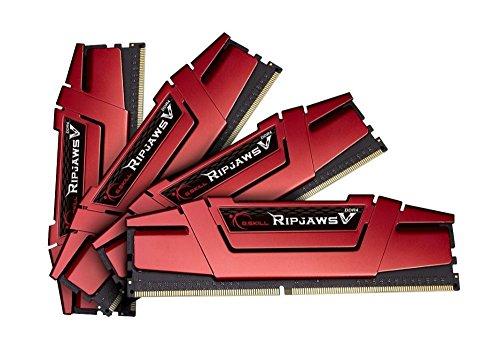 Kit de RAM G.SKill Ripjaws 32Go rouge V DDR4-3000 CL15 - 32 Go (4x8)