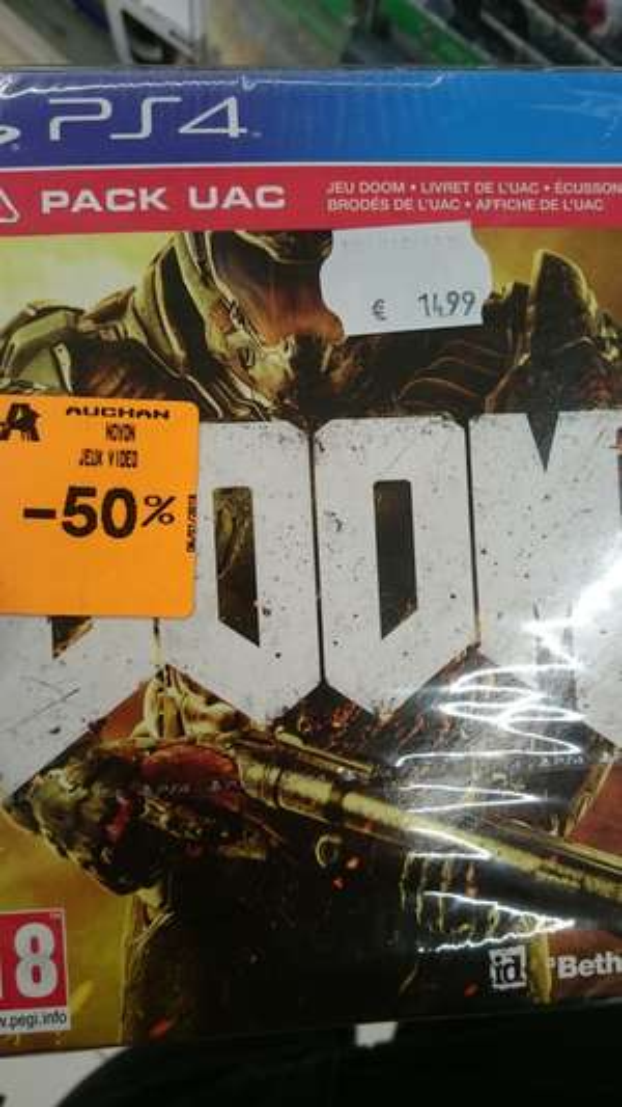 Doom UAC Pack sur PS4 au Auchan Noyon (60)