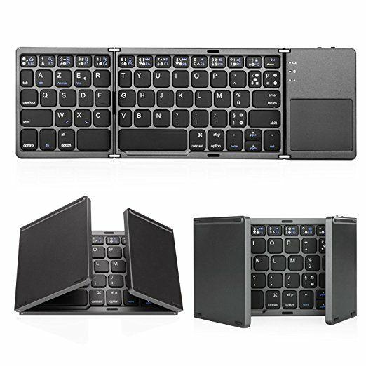 Clavier pliable Bluetooth Jelly Comb - blanc ou noir, AZERTY (vendeur tiers)