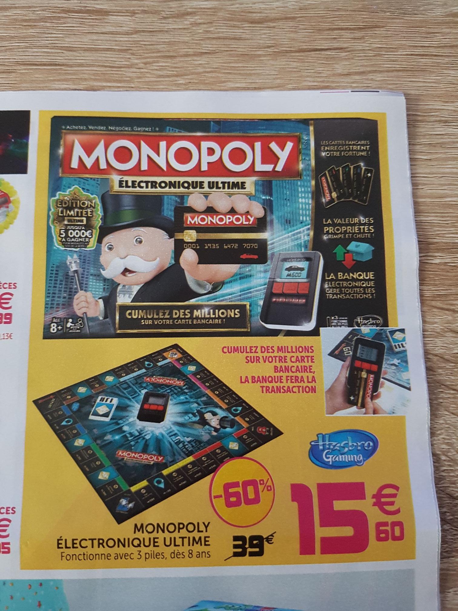 Jeu de société Hasbro Monopoly électronique ultime