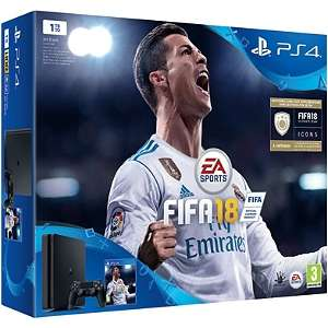 Pack console Sony PS4 Slim (1 To) + 2ème manette + FIFA 18