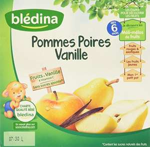[Amazon Famille] 6 Lots de 4x100g desserts pour bébé Blédina Fruits Épicés Pommes Poires Vanille - 24 pots 2,4 kg