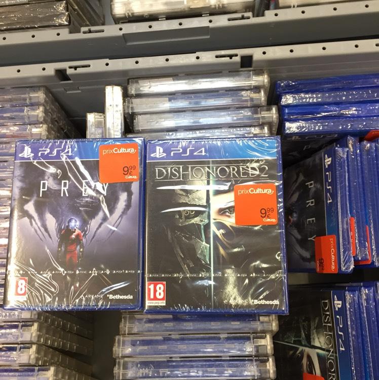 Dishonored 2 ou Prey sur PS4 au Cultura Balma Toulouse (31)