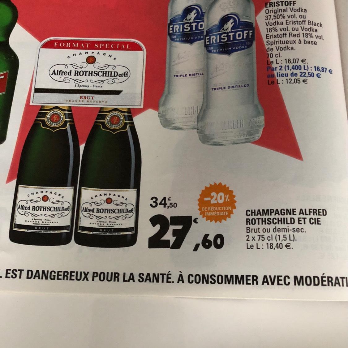 Champagne Alfred Rothschild et Cie 2 x 75 Cl