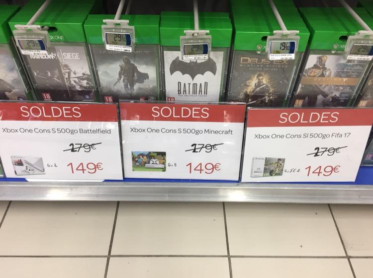 Console Microsoft Xbox One S - 500 Go + Battlefield 1 - Rennes Centre Alma (35)