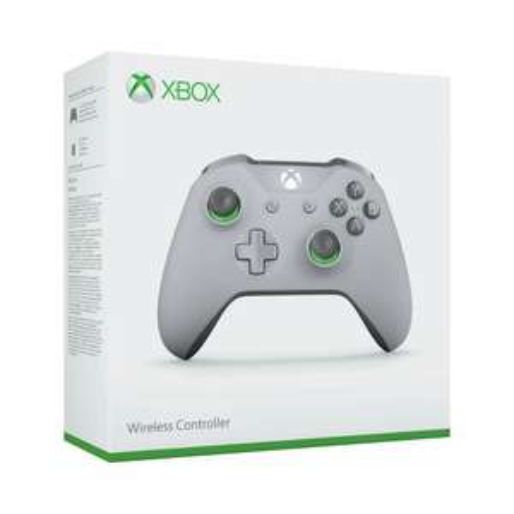 Manette Sans-fil Microsoft Xbox One Gris / Vert - Bluetooth