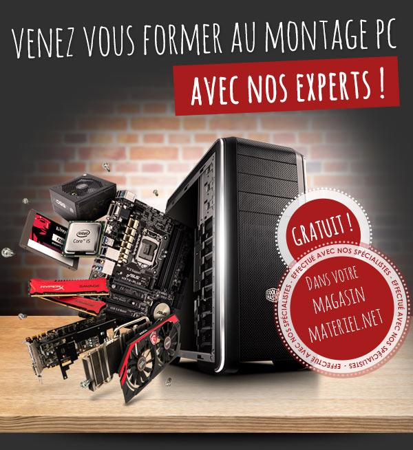 Formation gratuite au montage PC en boutique Materiel.net