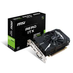 Carte graphique MSI GeForce GTX 1050 TI AERO ITX OCV1 - 4 Go