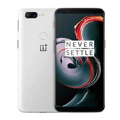 "Smartphone 6.01"" OnePlus 5T (Sandstone White) - 2160 x 1080, Snapdragon 835, RAM 8 Go, ROM 128 Go"