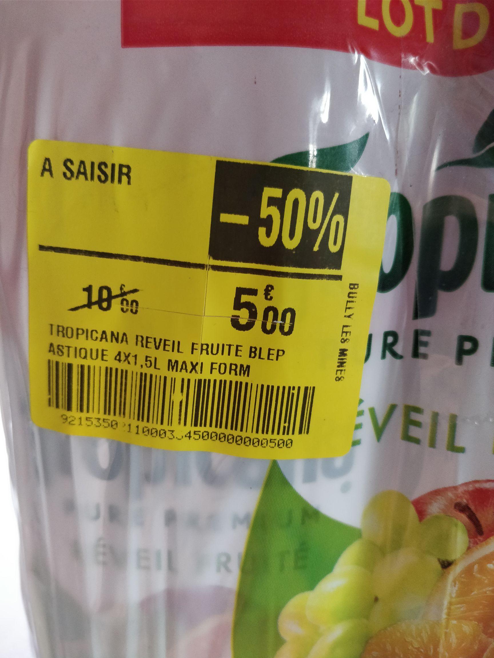 Pack de 4 bouteilles de Tropicana Réveil Fruité 1.5L - Bully-les-Mines (62)