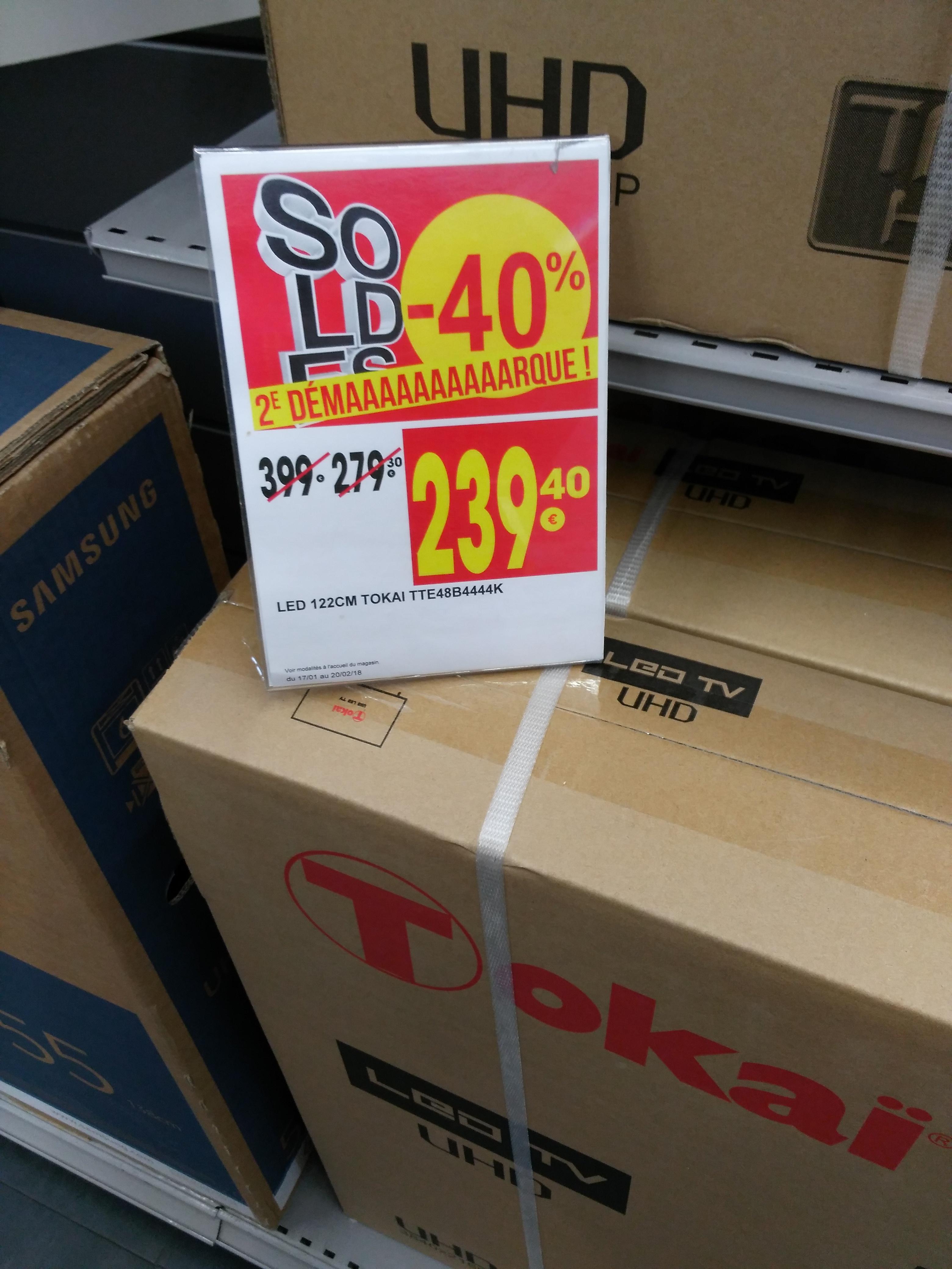 """TV 48"""" Tokai TTE-48B4444K - LED, 4K UHD - Chalon-sur-Saône (71)"""