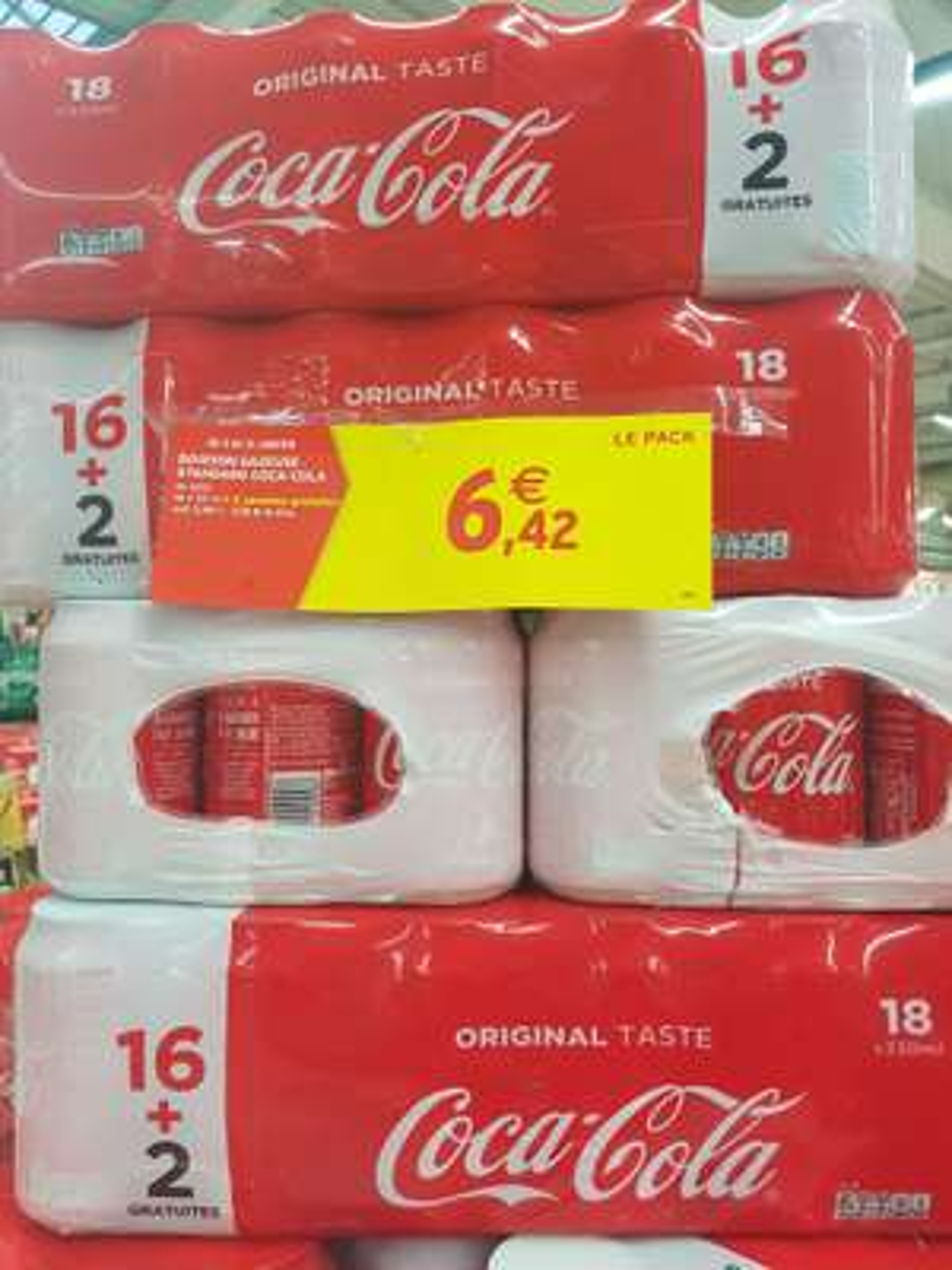 Pack de 18 Canettes de Coca-Cola (33 cl) - Agde (34)