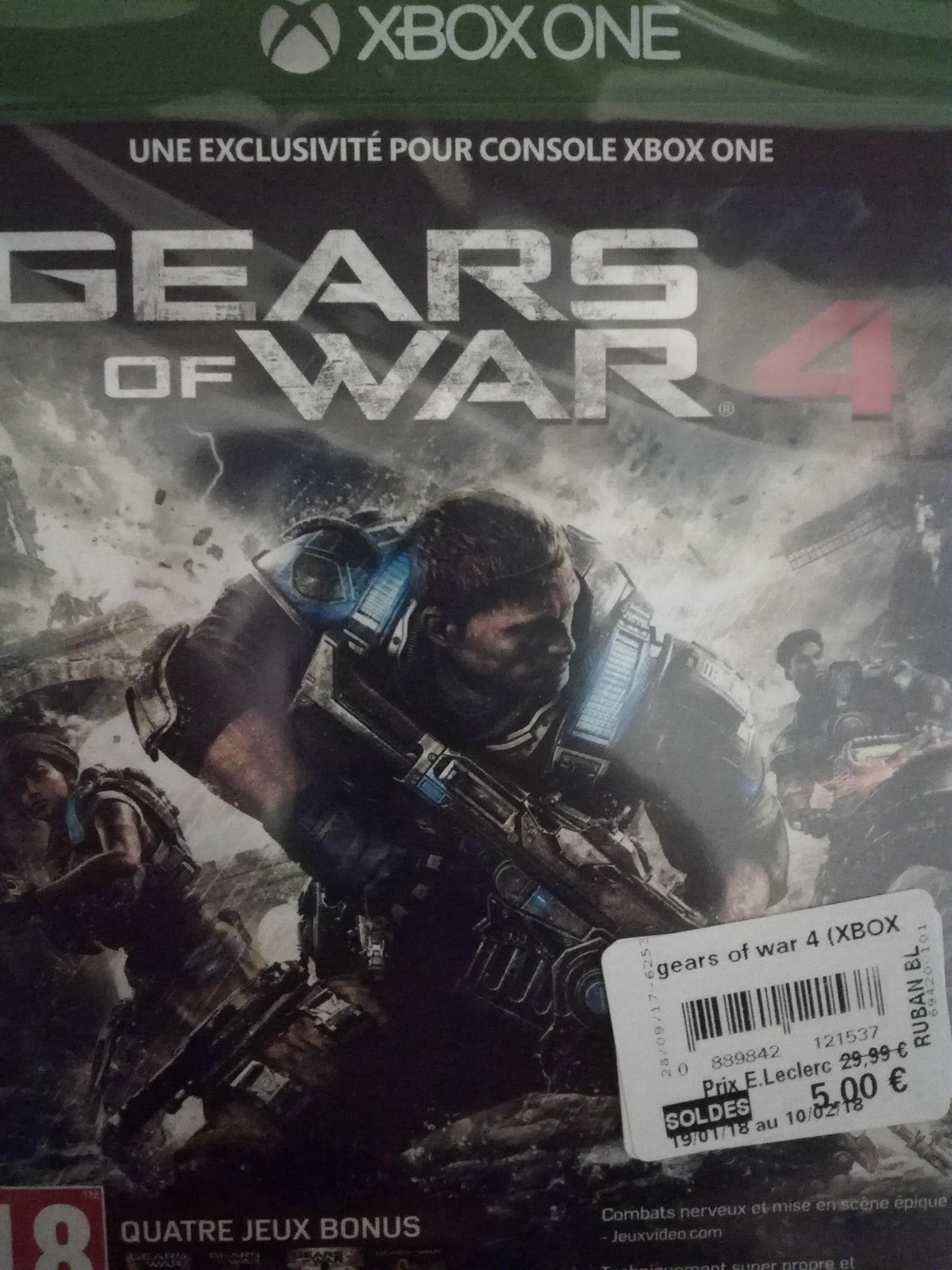 Sélection de jeux en solde - Ex : Jeu Gears of War 4 sur Xbox One (Leclerc Saint-Nazaire 44)