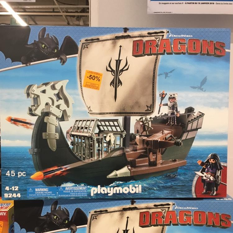 Jouet Playmobil Dragons et vaisseau d'attaque - La Défense (92)