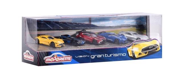 [Prime] : Ensemble de Véhicules Miniatures Majorette Vision Gran Turismo 212054052 - 5 Pièces