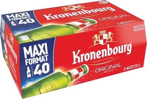 Pack de 40 bières Kronenbourg - 40 x 25cl