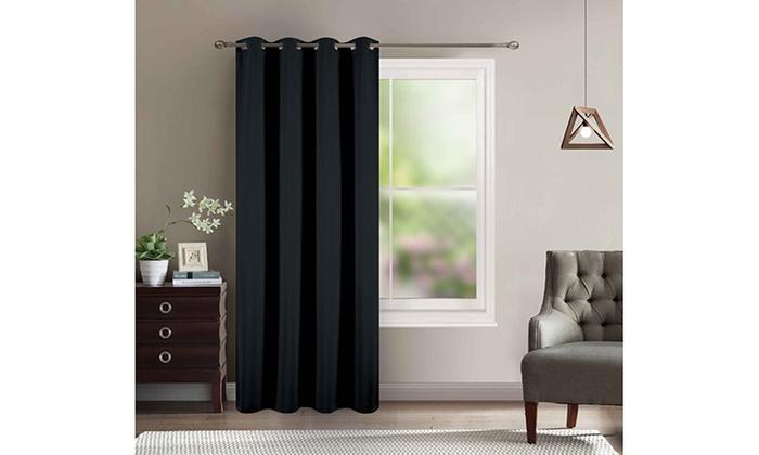 rideau thermique avec doublure polaire coloris au choix. Black Bedroom Furniture Sets. Home Design Ideas