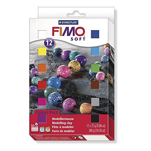 Lot de 12 Pains de Pâte à modeler Fimo Soft 8023 01 - 12 x 25g