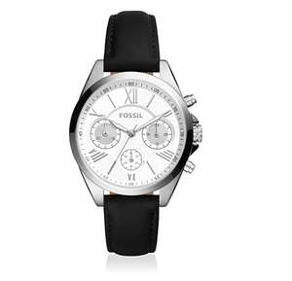 Sélection de montres Fossil en promo - Ex : Montre chronographe lance bracelet cuir noir