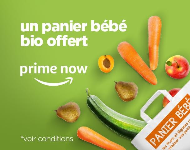 [Amazon Prime Now] Un panier de fruits et légumes bio spécial bébé offert
