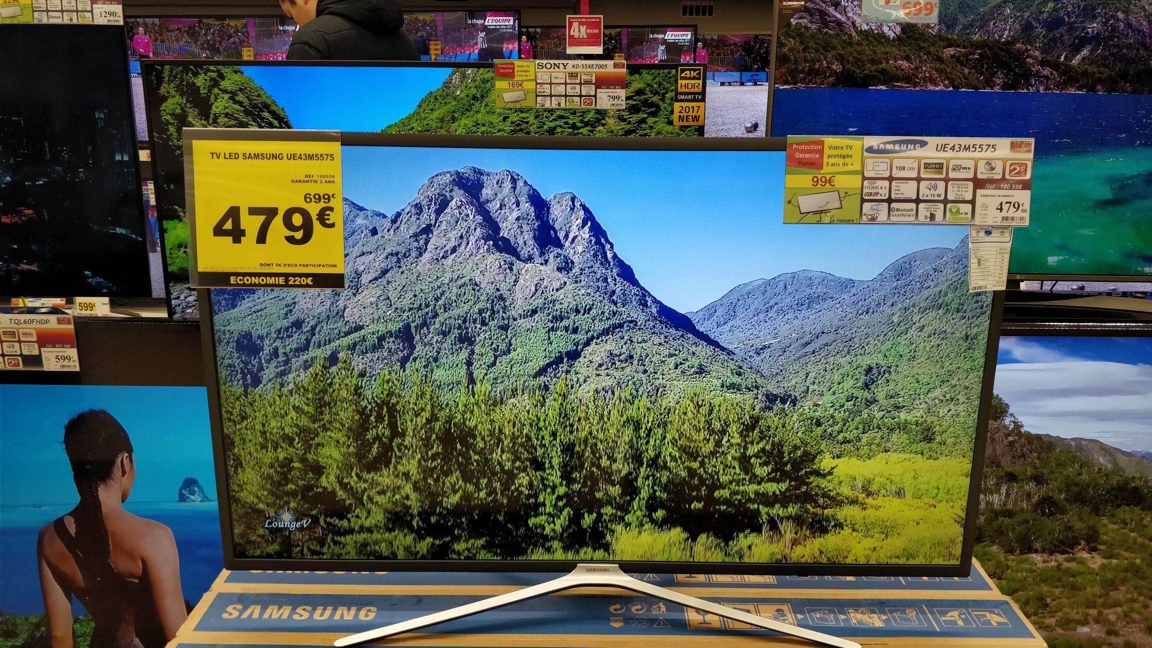 "TV 43"" Samsung UE43M5575 - full HD, LED au Auchan Chambray-lès-Tours (37)"