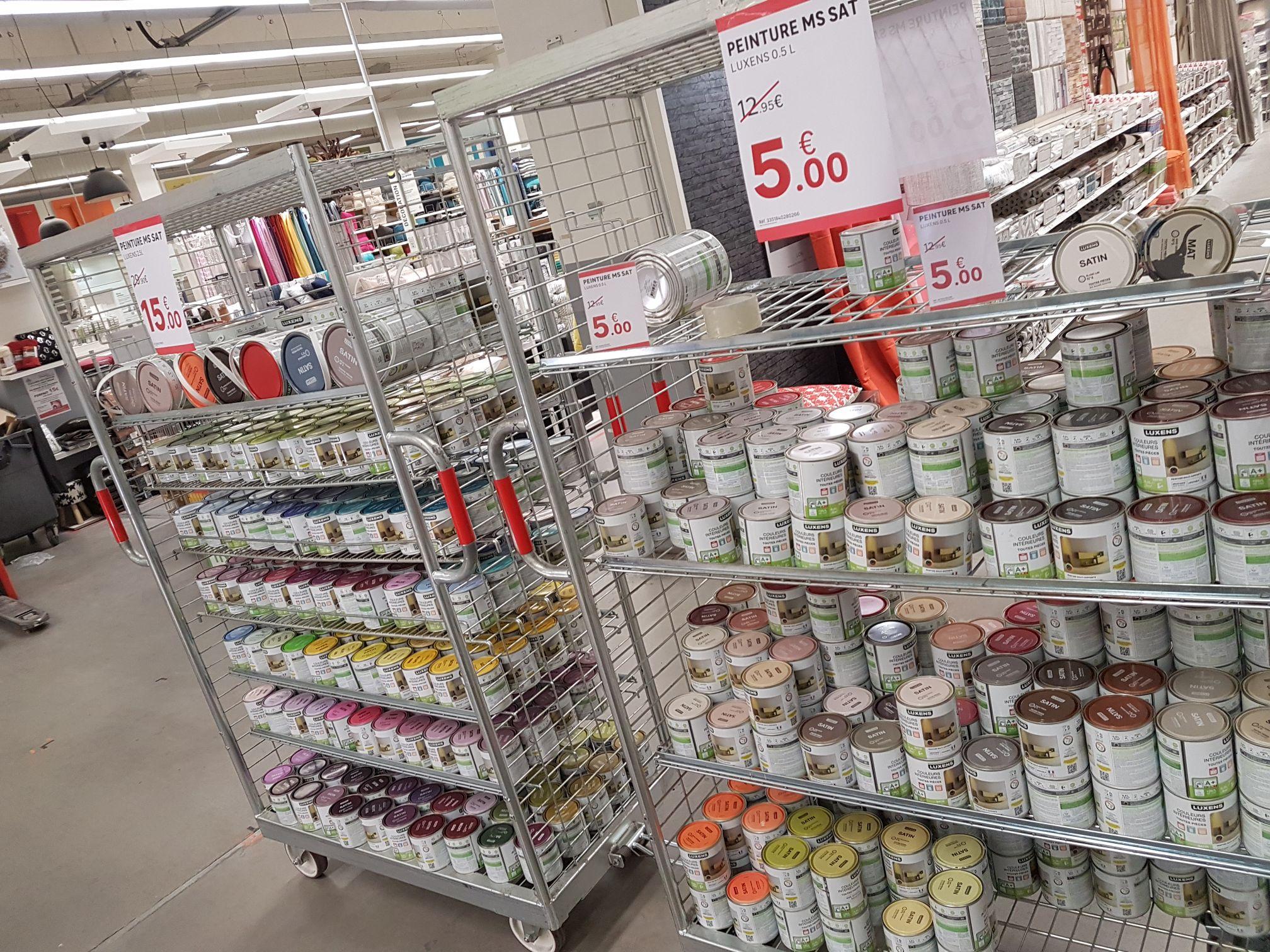 Déstockage de pots de peintures - Ex : Pot Luxens couleurs 0.5L - Leroy Merlin la Valentine (13)