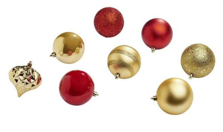 Sélection de décorations de Noël en promotion - Ex : Set de 70 boules rouge & doré