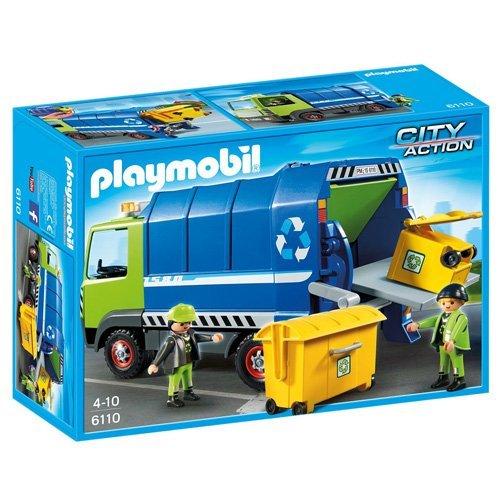 Jouet Playmobil Camion de recyclage ordures (6110)