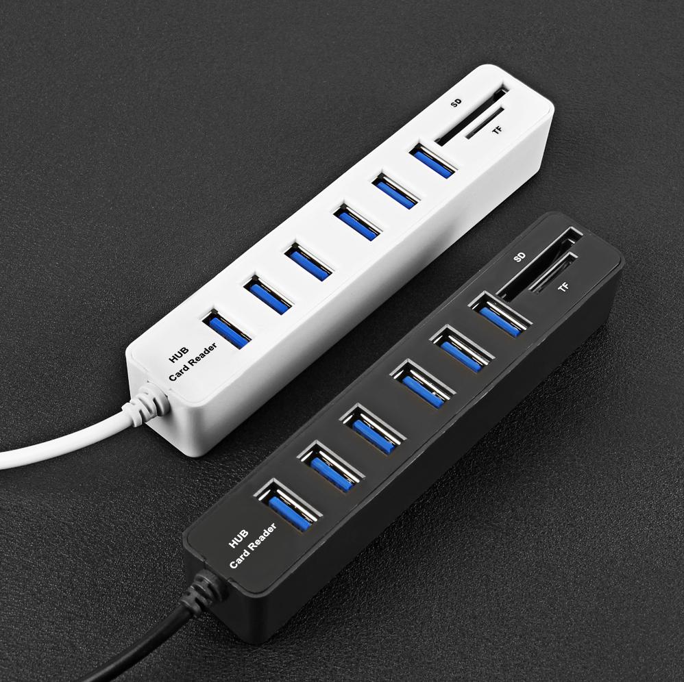Hub  USB Easyidea - 6 ports USB Lecteur SD et TF