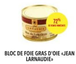 Bloc de foie gras d'oie jean larnaudie