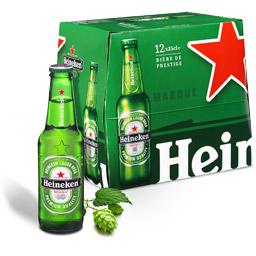 Lot de 12 bouteilles de bière Heineken (via 4.85€ sur carte)