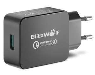 Chargeur BlitzWolf BW-S5 Certifié Qualcomm QC3.0 - 18W - Noir