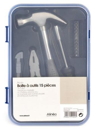 Boite à outils Bricolo Box 15 pièces