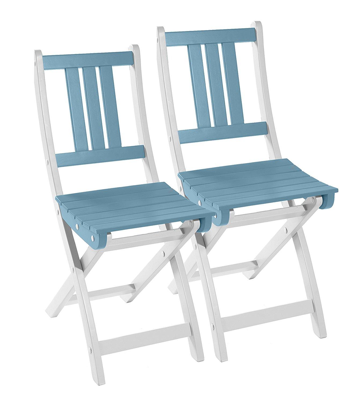 Lot de 2 chaises pliantes en acacia certifié FSC CityGreen